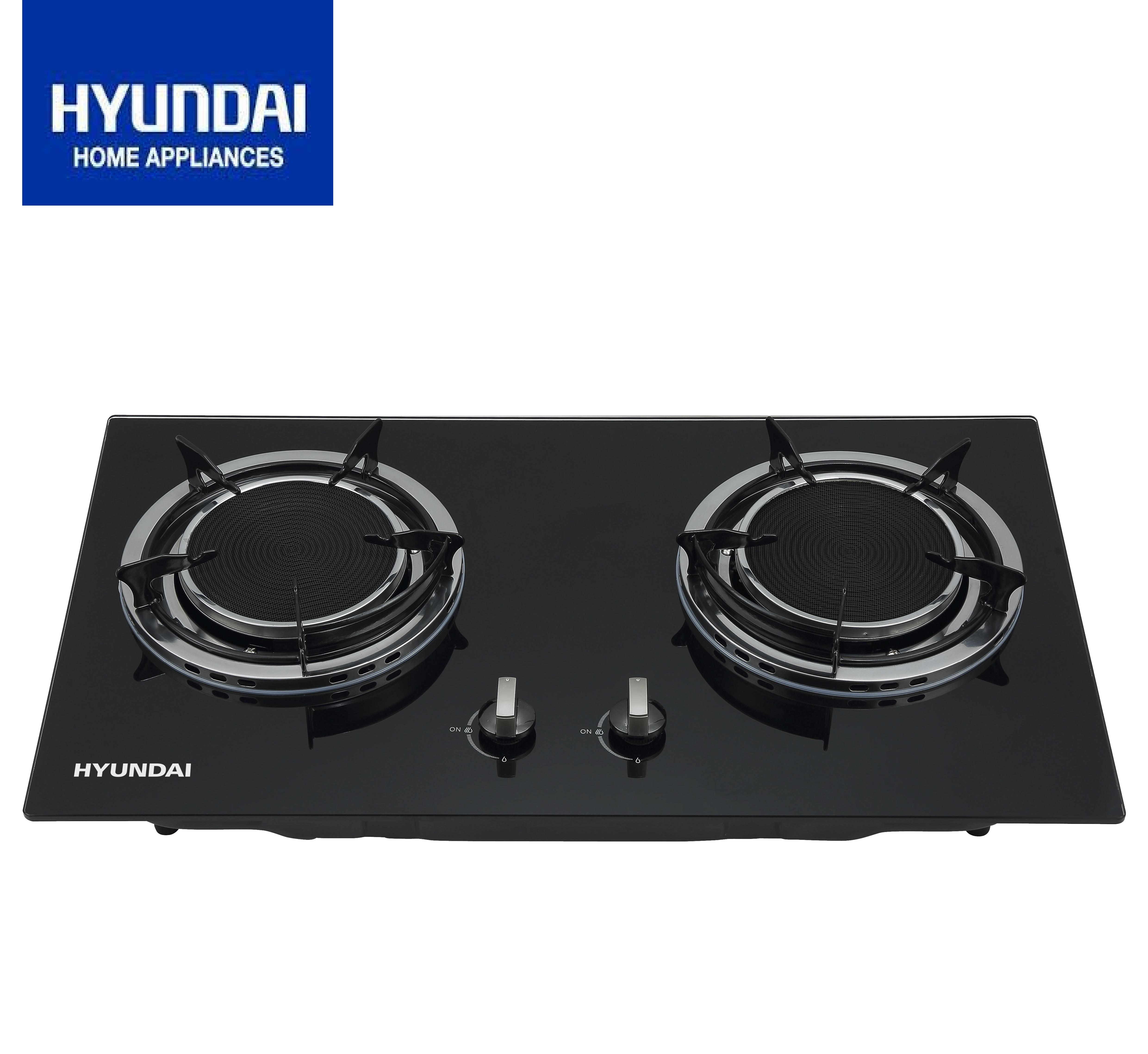 Hyundai Double Infrared Burner Tempered Gl Gas Stove Hg A203k