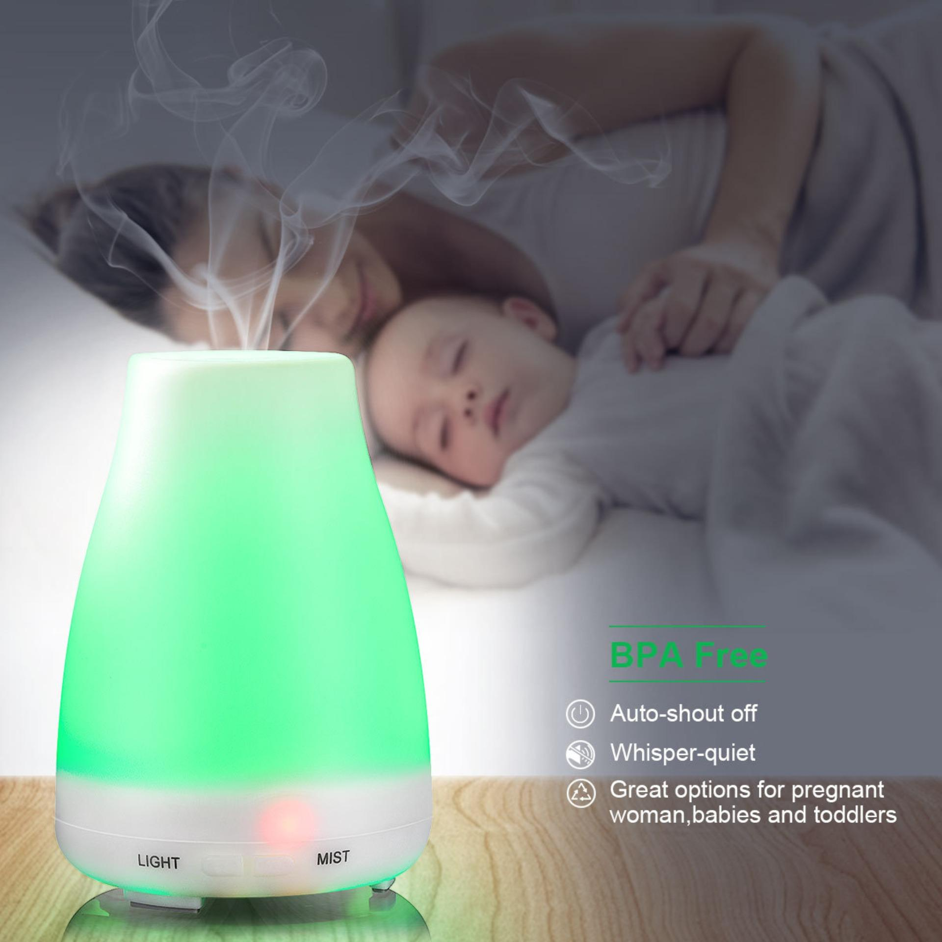[1 Year Warranty] Air Humidifiers Ultrasonic Aroma Diffiusers Purifiers Cool Mist Humidifiers Essential Oil Aromatherapy Diffusers Machines Air Purifiers Treatment Mist Maker 100ml By Yh-Store.