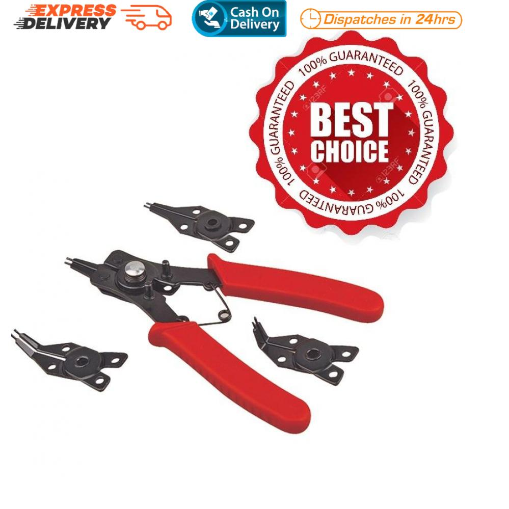 Interchangeable Snap Ring Pliers 4in1 Combination Circlip Pliers  Internal-External Retaining Clip Tool #0888