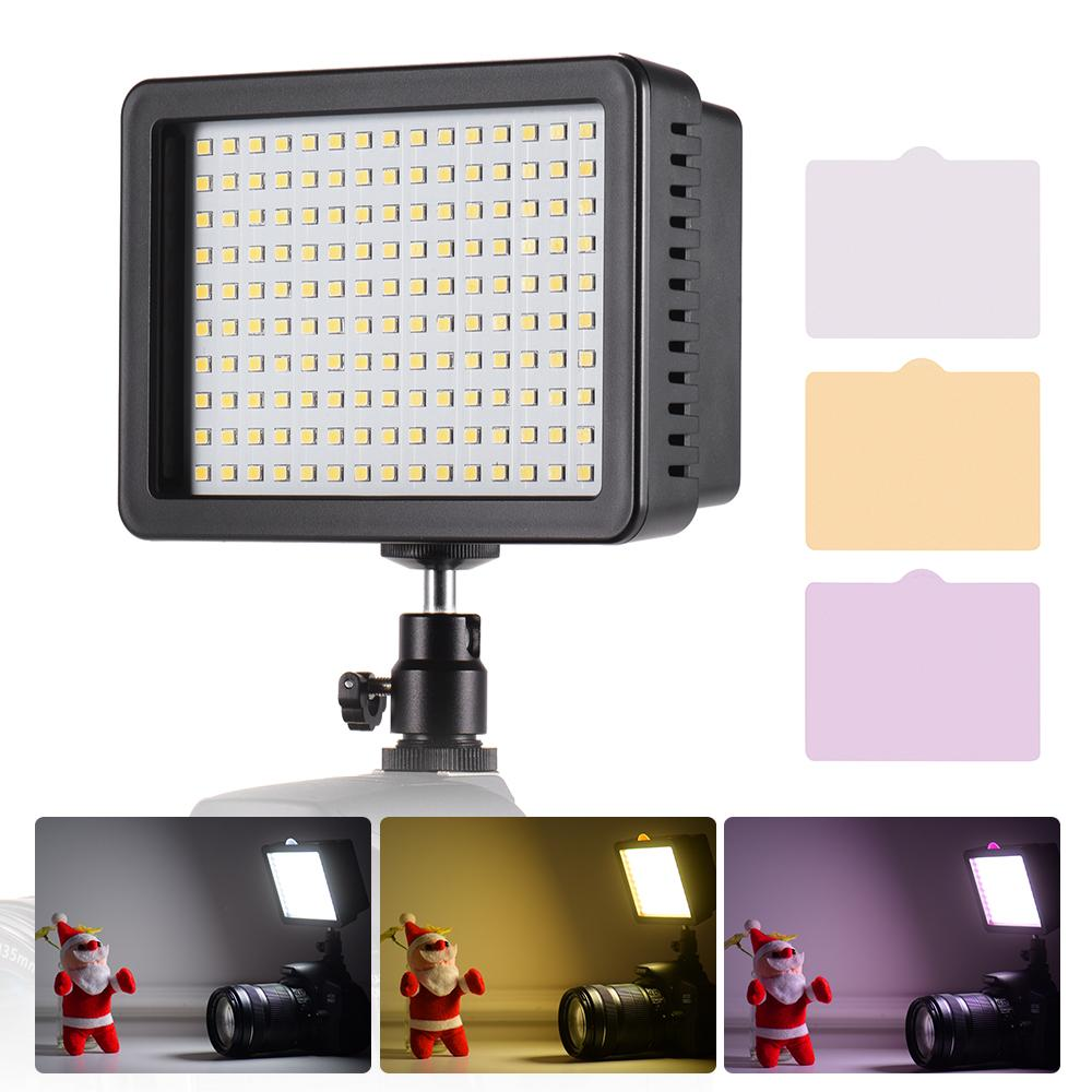 Andoer Portable 160pcs Led Video Light Lamp 5600k Color Temperaure With Dimmable Switch Ultra Bright Camera Lighting Panel 3 Filters For Photo Video Photography For Canon Nikon Pentax Panasonic Sony Olympus Dslr Cameras & Camcorders.