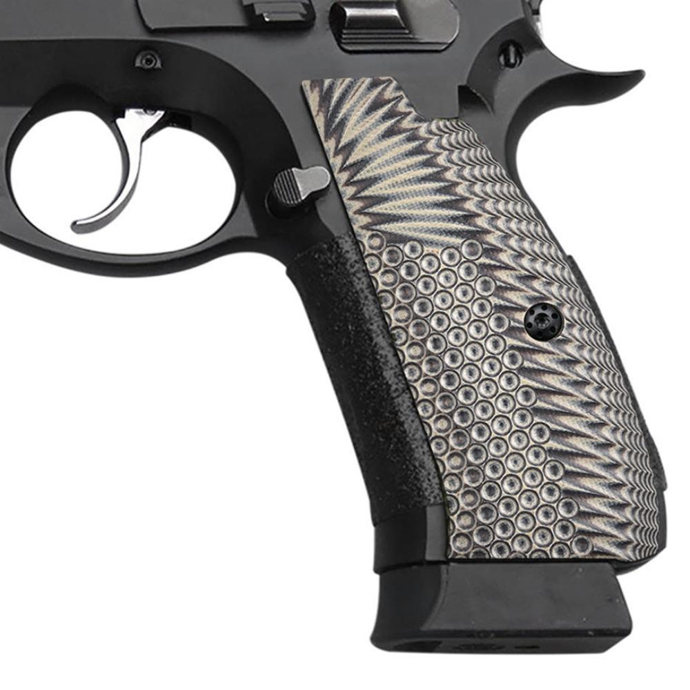 Guuun CZ 75 Grips Full Size SP-01 Shadow Tactical CZ SP01 Grips Eagle Wing  Texture G10 Grips