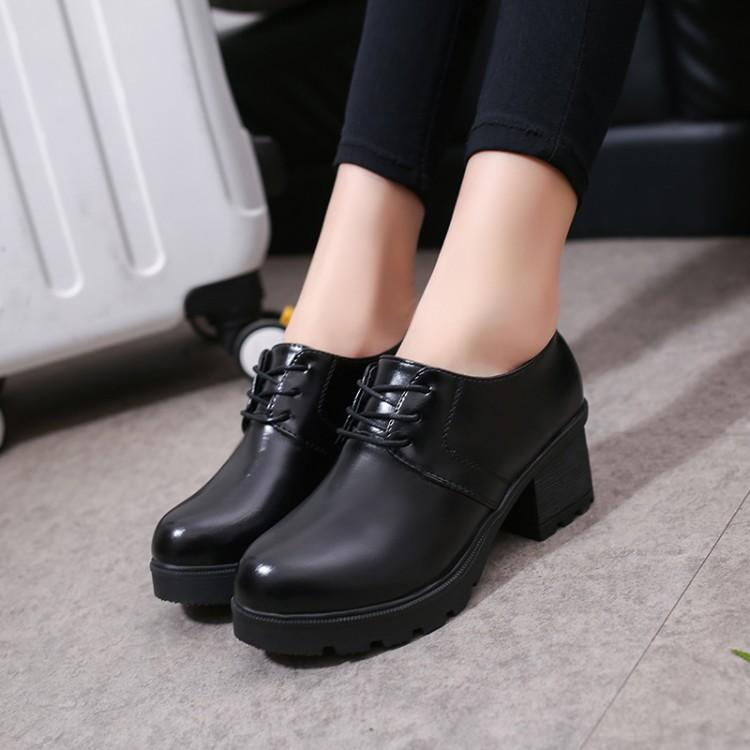 Korea Women Fashion High Heels Black Leather Shoes Work/school/formal/casual Shoes Ankle Boots By Amaida.