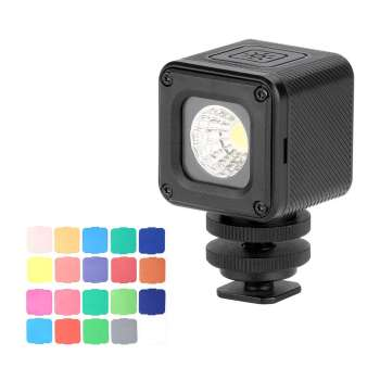Ulanzi L1 Pro Versatile Waterproof Dimmable Mini LED Video Light 5500K Photographic Fill Light CRI 95 with 20 Color Filters for GoPro 7/6/5 for DJI Drones Osmo Pocket Support Diving Underwater Photography