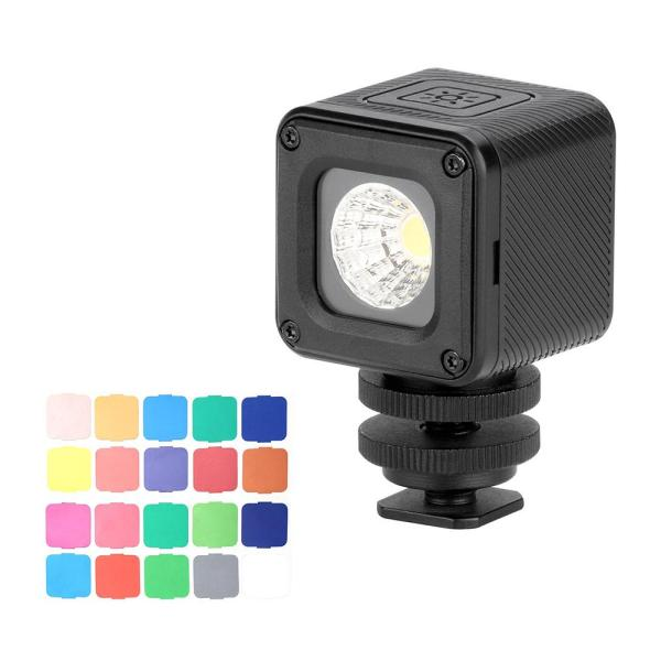 Giá Ulanzi L1 Pro Versatile Waterproof Dimmable Mini LED Video Light 5500K Photographic Fill Light CRI 95 with 20 Color Filters for GoPro 7/6/5 for DJI Drones Osmo Pocket Support Diving Underwater Photography