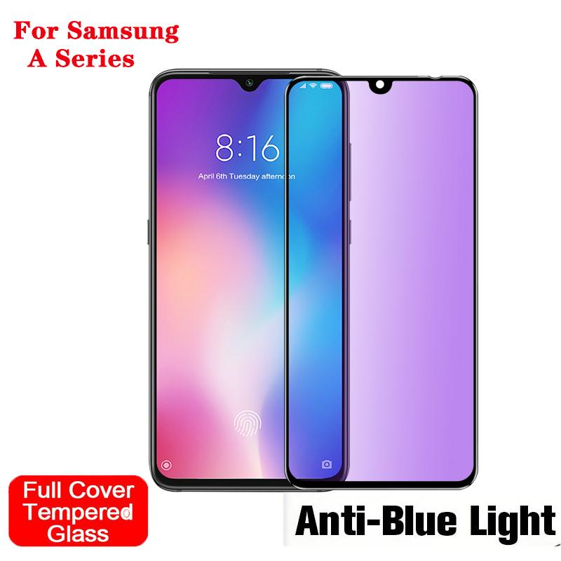 10D Anti Blue Light Purple Ray Tempered Glass For Samsung A70 A50 A40 A30  A20 A10 M30 M20 M10 Screen Protector eyesight protective front film guard