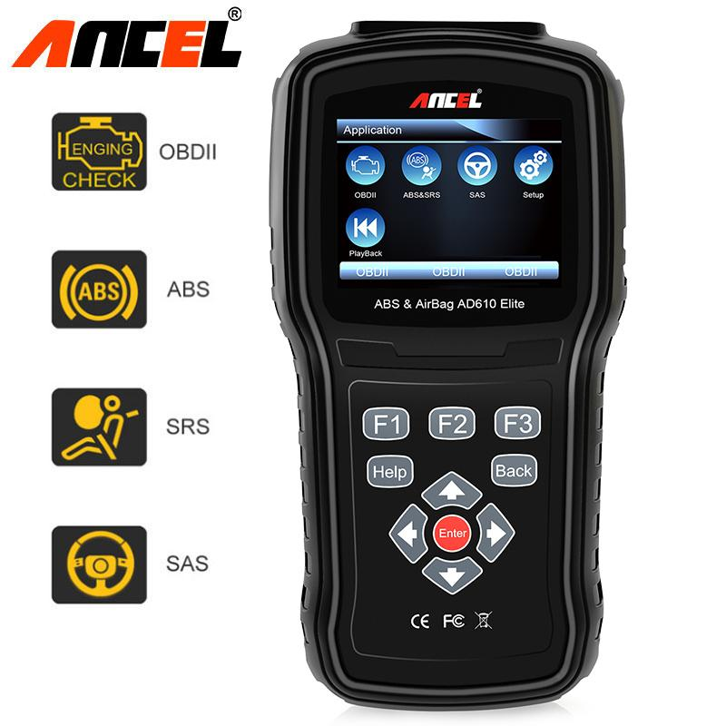 Ancel Ad610 Elite Automotive Obd Ii Car Code Reader Engine Diagnostic Scan Tool Abs Sas Srs Airbag Crash Data Reset Scanner By Obdspace Store.