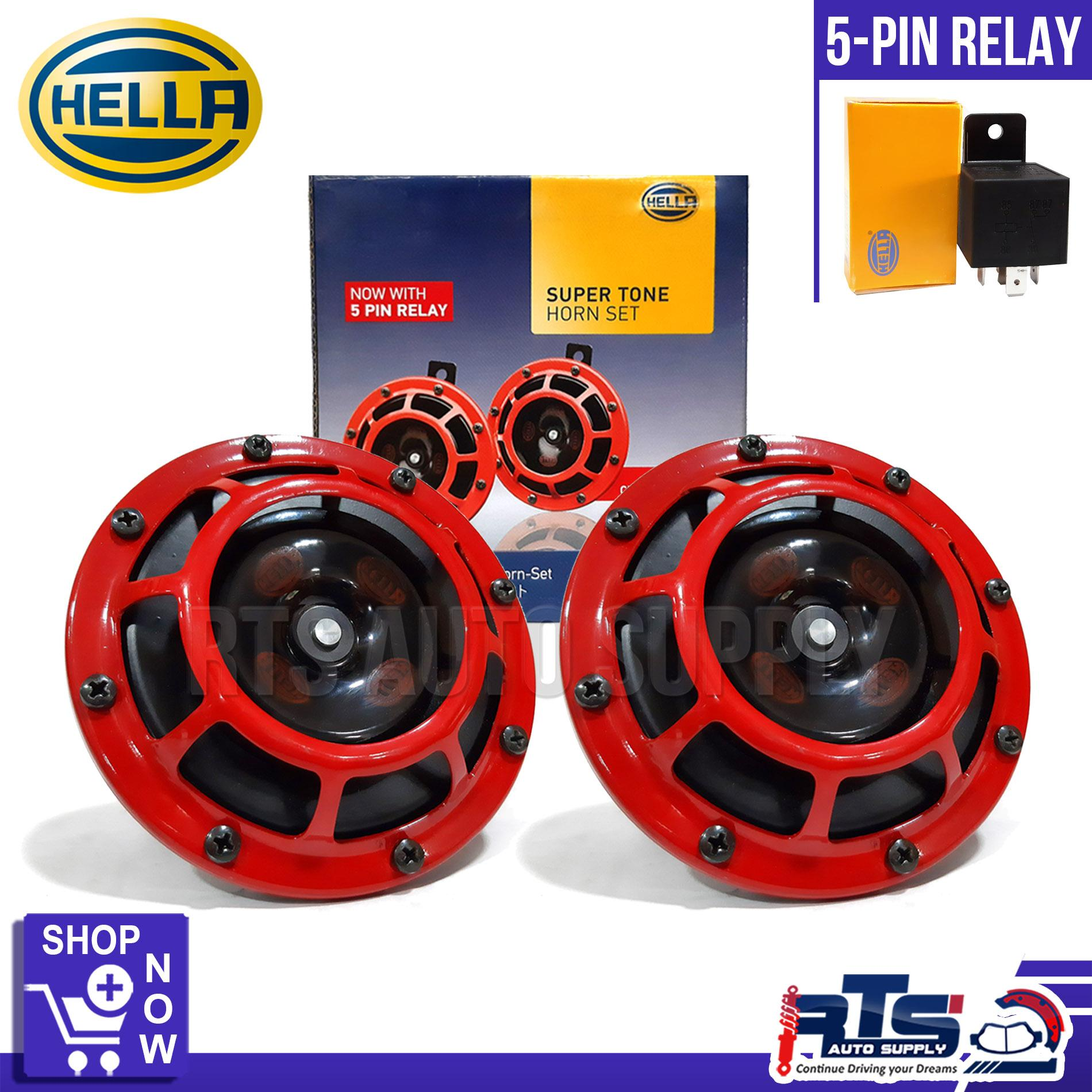 HELLA Super Tone Horn Set with 5 pin relay ( Car and Motorcycle Horn )
