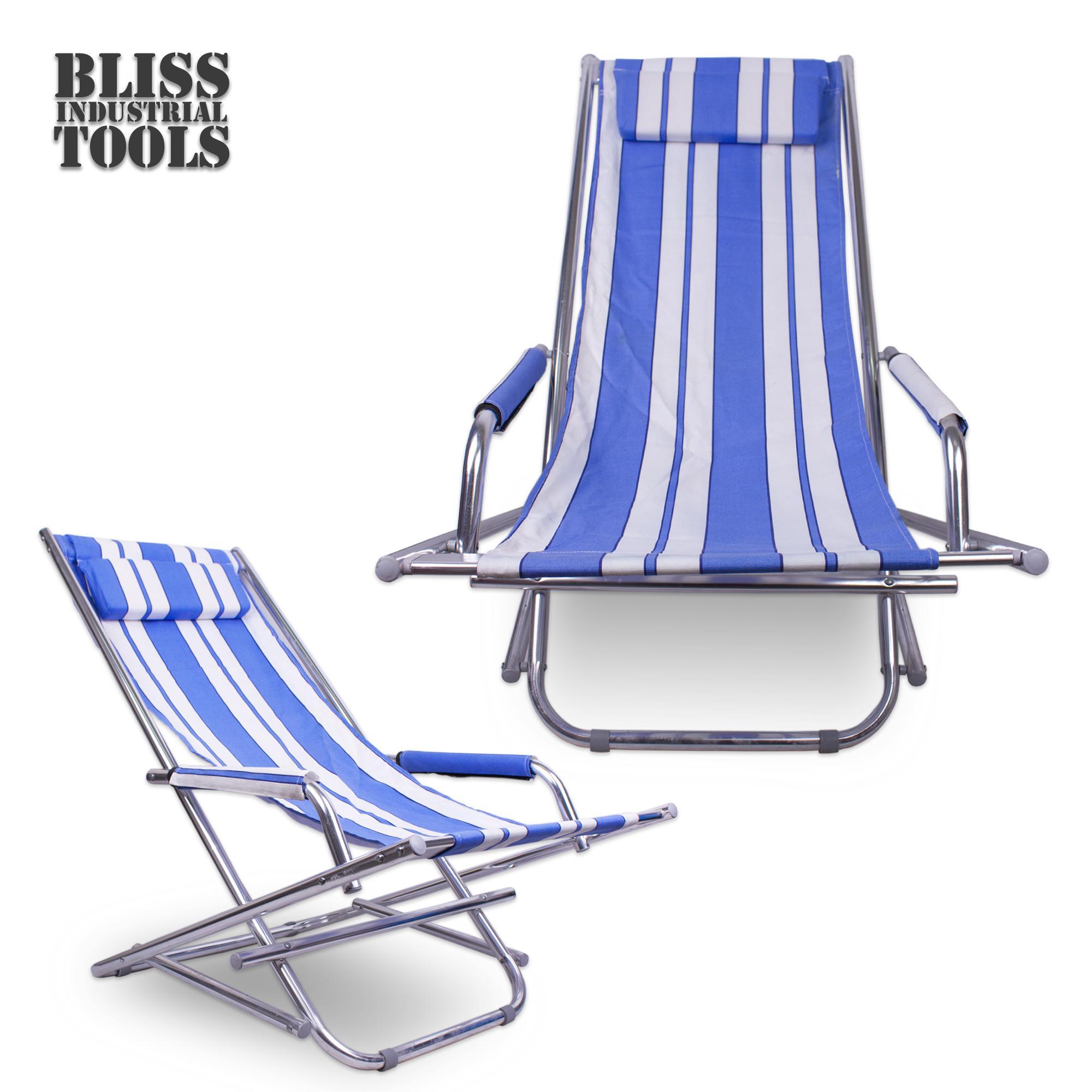 ca7946f1588 B.I.T. ASC-008 Foldable Portable Lightweight Beach Chair Sling Swinging  Chair (Blue)