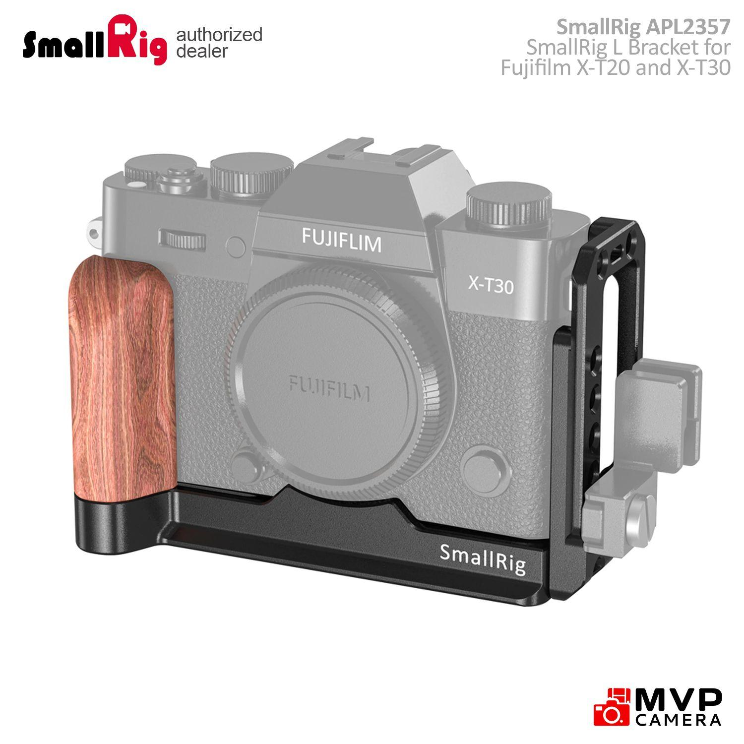 MENGS X-T20 L-Shaped Quick Release Plate With Hand Grip And Aluminum Alloy Material For Fujifilm X-T20 Camera Compatible With Arca-Swiss Standard