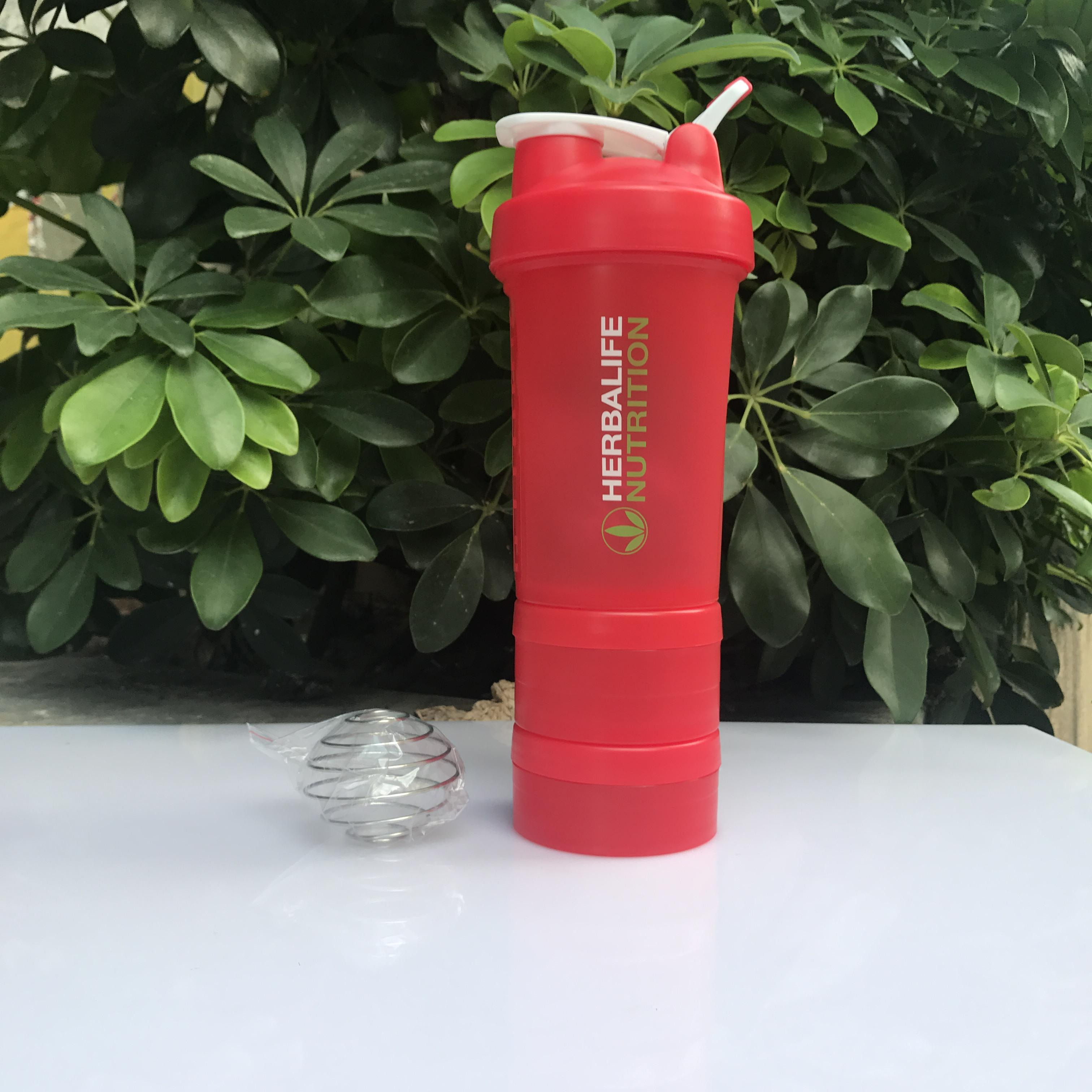 New Style Herbalife Three Layer Shake Cup C, 24 Fitness Glass Protein  Powder Shake Cup Shake Retainer Cup