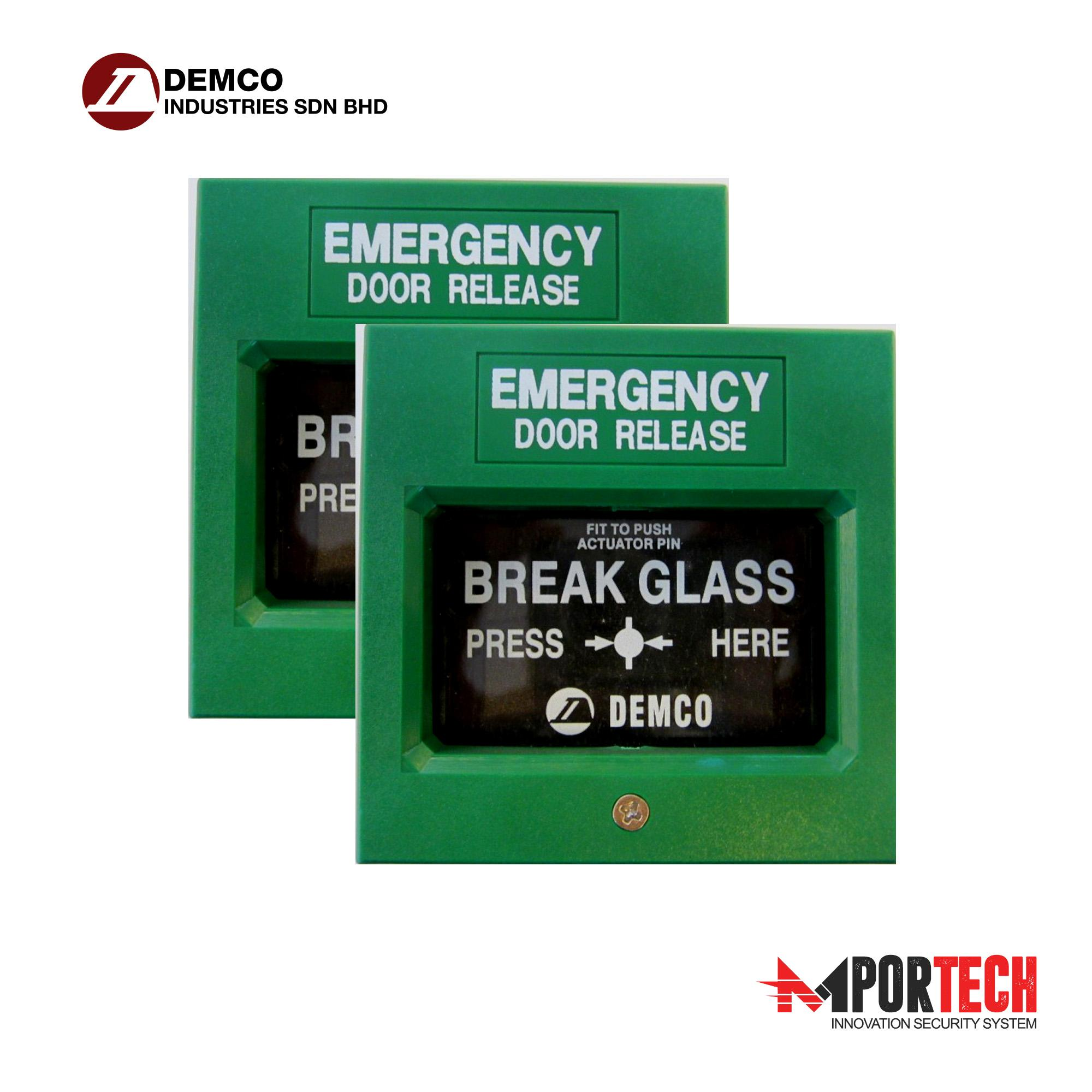 Manual Call Point Emergency Break Glass Door Release Fire Alarm Pull  Station (Green) D-108 Malaysia