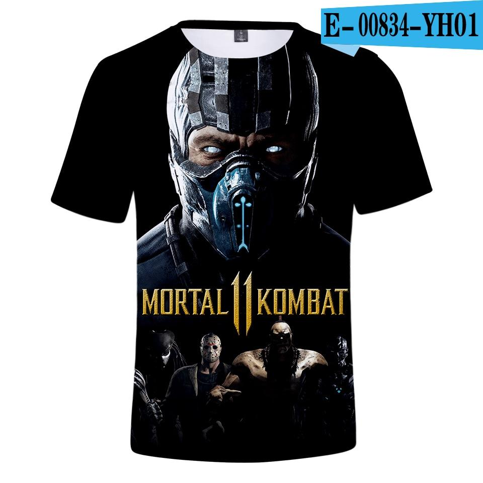 3a9b4b6ad0b Philippines. Mortal Kombat 11 3D Print T shirts Men Casual Harajuku t-shirts  Women Men