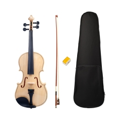 Acoustic Violin Adult Student Violin Full Size 4/4 Violin Smooth Polished Surface Violin Bow Box Set New