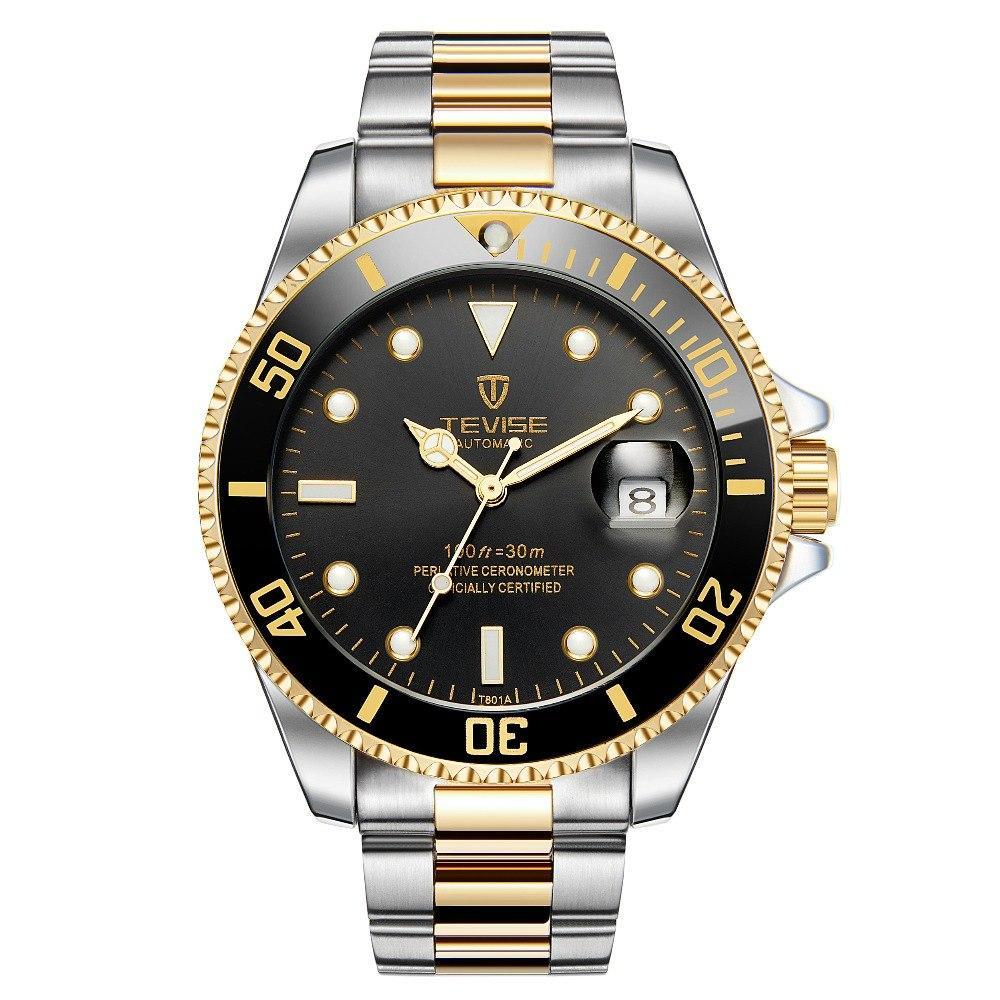 93990b2cc17 Tevise T801A Mens Fashion Sport Automatic Mechanical Watch Men Top Brand  Luxury Full Steel Clock Waterproof