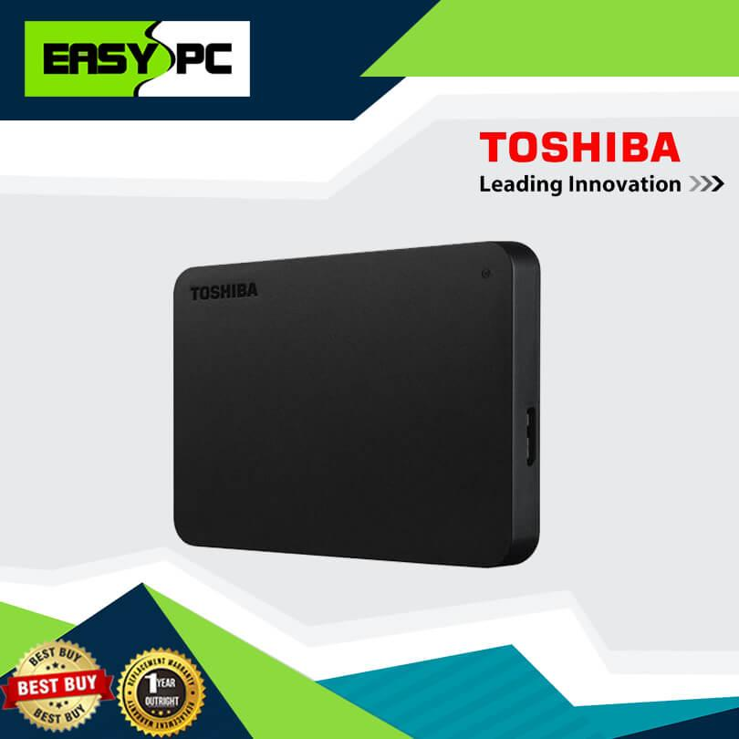 3 Years Warranty Toshiba Canvio Basic External Hard Drive 1tb 2 5 black,  Toshiba External HDD 1TB, for Back up Important files, Movies, Videos,  Music,