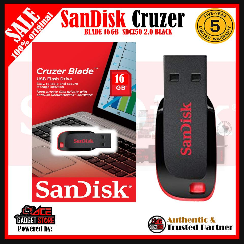 Sandisk Cruzer Blade 16gb Usb Flash Drive Sdcz50c-016g-B35 By Acegadgetstoreph.