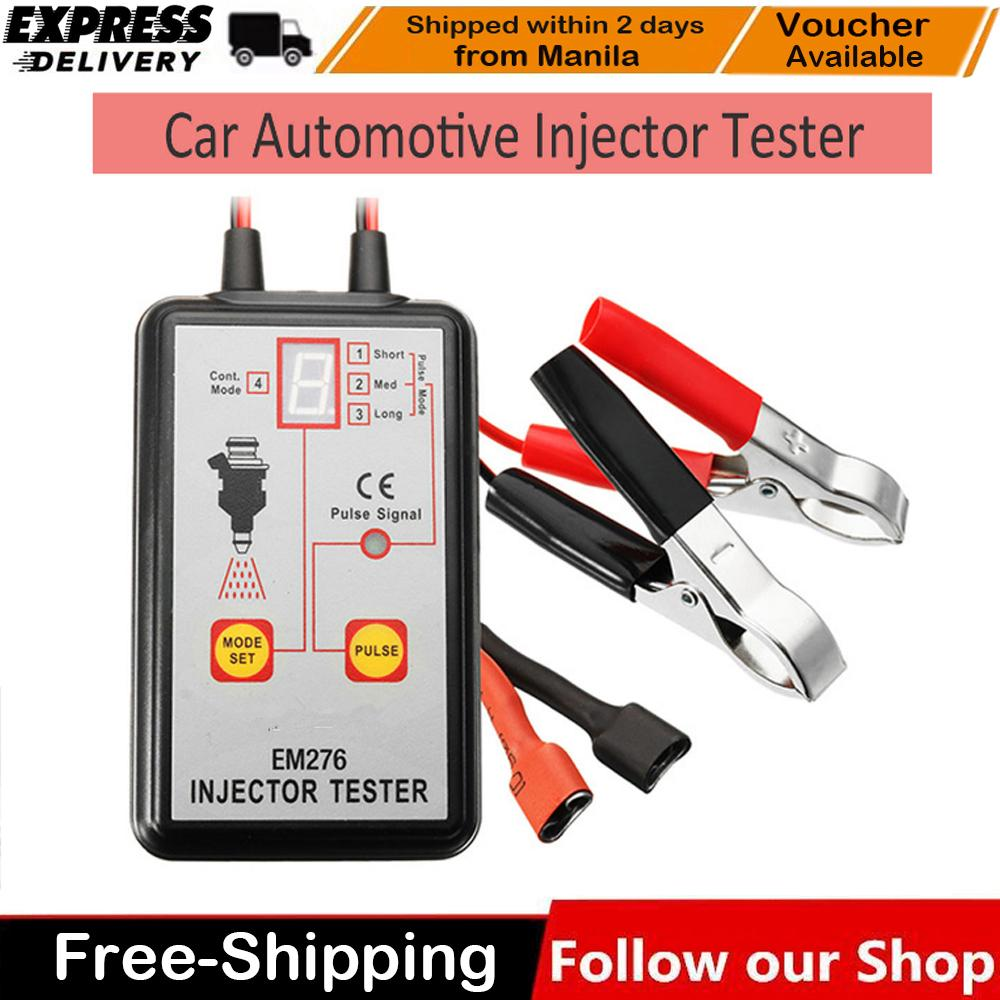 EM276 Universal Car Fuel Injector System Analyzer Fuel Injector 4 Pluse  Modes Tester Powerful Fuel System Scan Tool - intl