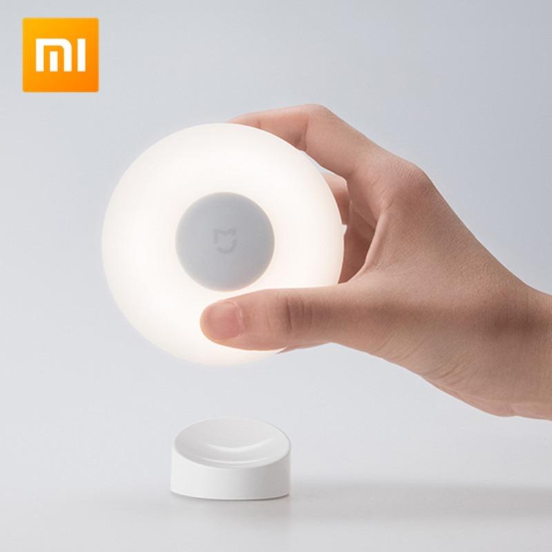 Xiaomi Mijia Night Light 2 Phiên bản toàn cầu Đèn ngủ 2 Cảm biến ánh sáng 360 độ Xoay 2 Điều chỉnh độ sáng