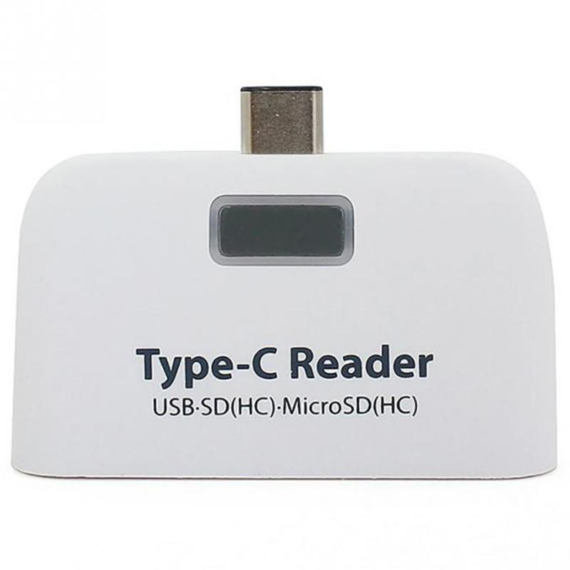 4 In1 Abs Usb 3.1 Type C Usb-C Tf Micro-Sd Otg Card Reader For Macbook Phone Tablet