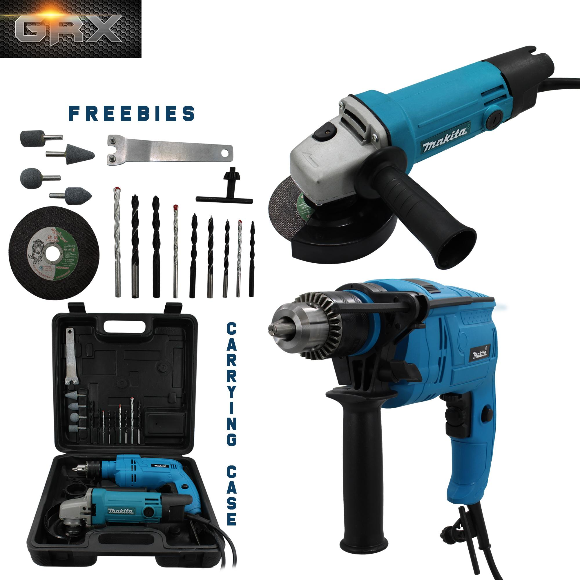 2in1 Makita 9556NB Grinder + Makita HP6013 Drill (Model B)