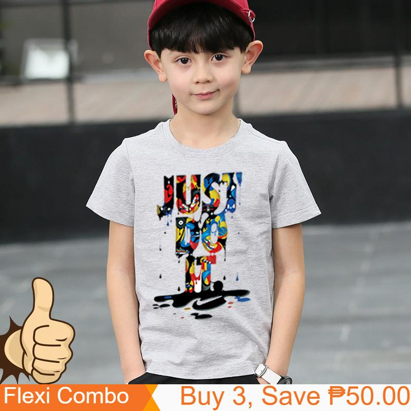b047ea48 Summer tshirt for kids T-shirt for girl's boy's tshirt Tee Tops Clothes  Girls Tshirt Clothes Just do it K1923
