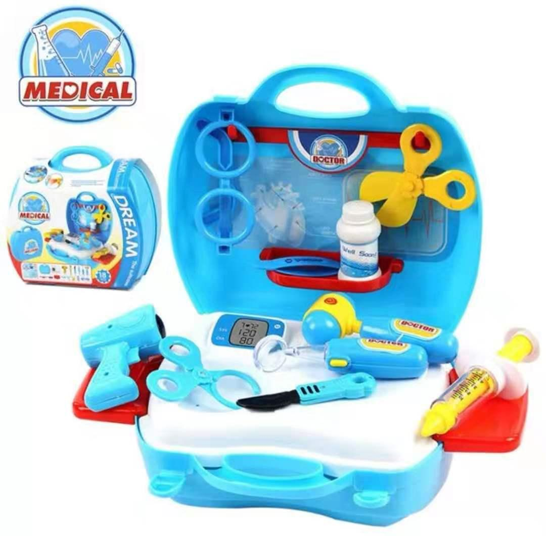 444b4c84d New Baby Kids Funny Toys Doctor Play sets Simulation Medicine Box Pretent Doctor  Toys Stethoscope Injections