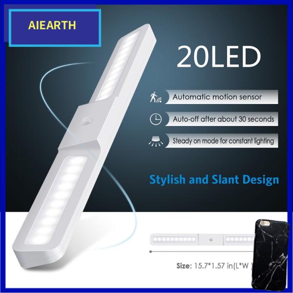 Aiearth-Đèn LED Tủ DC5V PIR Cảm Biến Chuyển Động Đèn Tường Góc Rộng 120 ° Đèn Ngủ Nhà Bếp 20LED USB Đèn Phòng Tắm Tủ Quần Áo