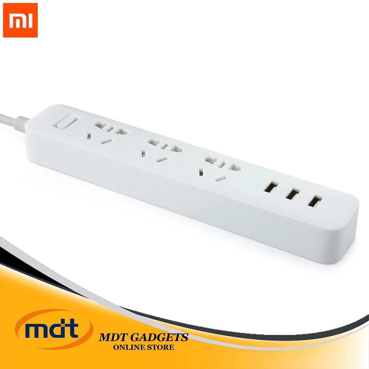 Xiaomi Mi Power Strip 3 Sockets / 3 Usb Ports Extension By Mdt Gadgets.