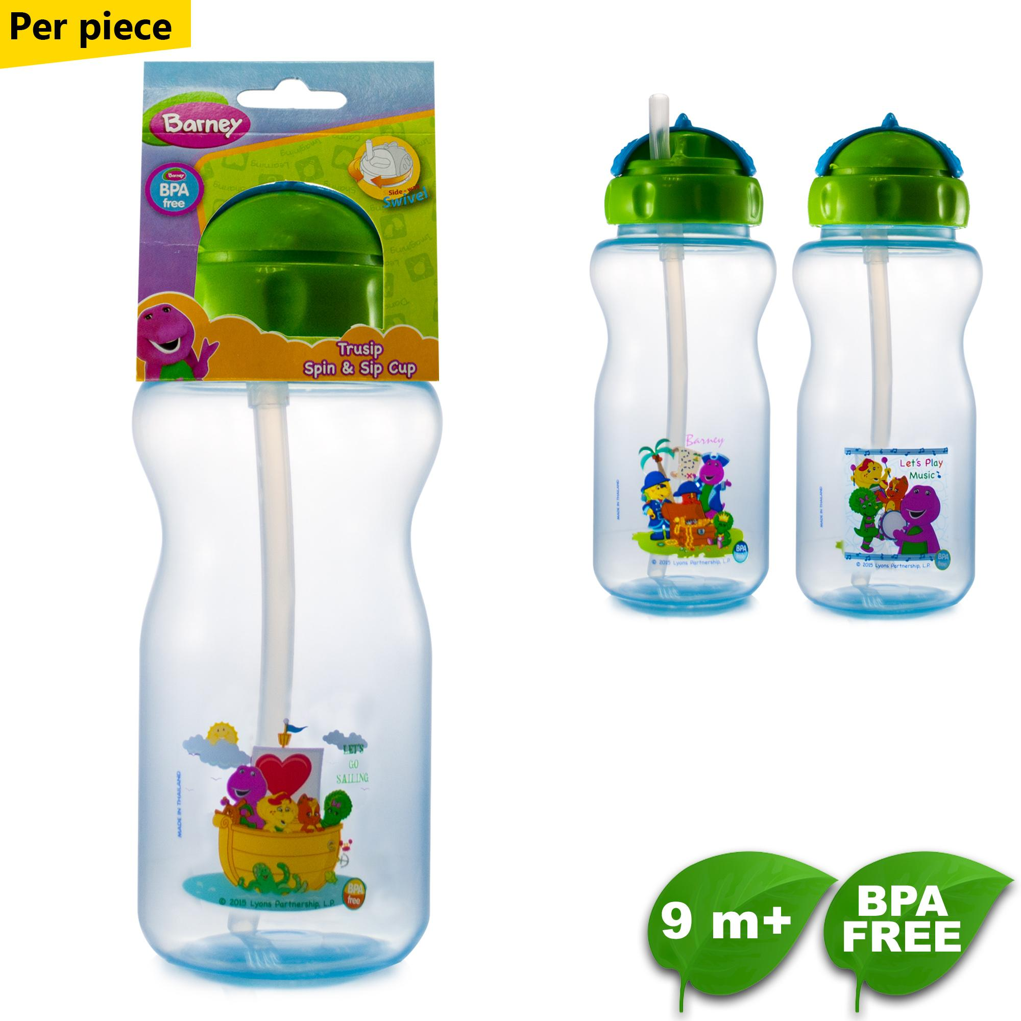 BPA FREE Barney Trusip Spin and Sip Cup