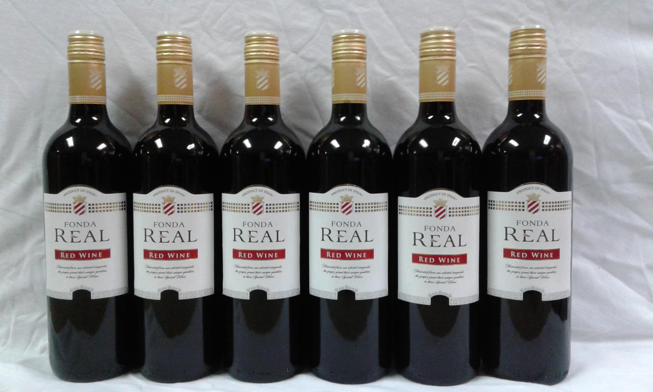 6 Bottles Fonda Real Spanish Red Wine
