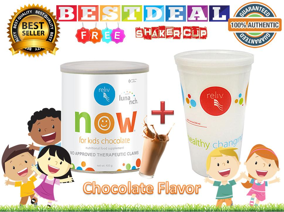 Reliv Now For Kids (chocolate) 100% Authentic With Free Shaker Cup By Bestdeal O-Shopping.