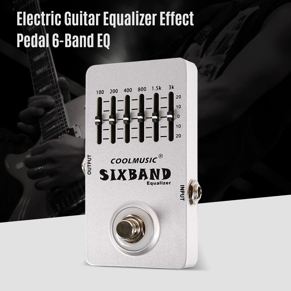 Electric Guitar Equalizer Effect Pedal 6-Band EQ Full Metal Shell True Bypass