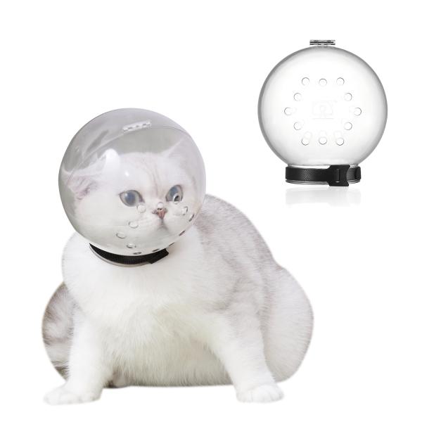 ATHYZH Cửa Hàng 1 Pc Phục Hồi, Có Thể Điều Chỉnh Nhai Kẹo, Mũ Trùm Đầu Thoáng Khí Cho Mèo Mõm