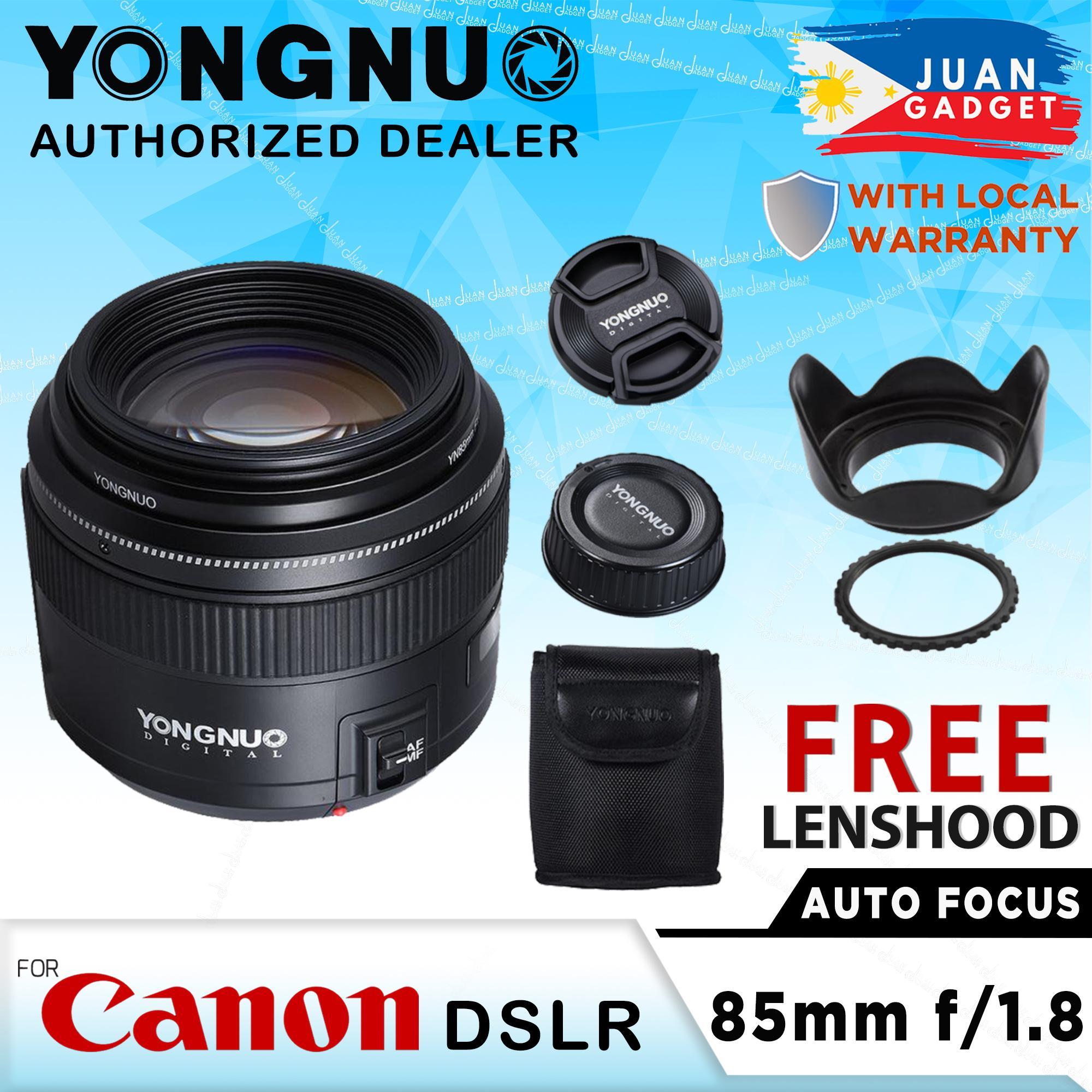 YONGNUO YN85mm 85mm f1 8 AF/MF Standard Medium Telephoto Prime Lens Fixed  Focal Lens Camera Lenses for Canon EF Mount EOS Cameras