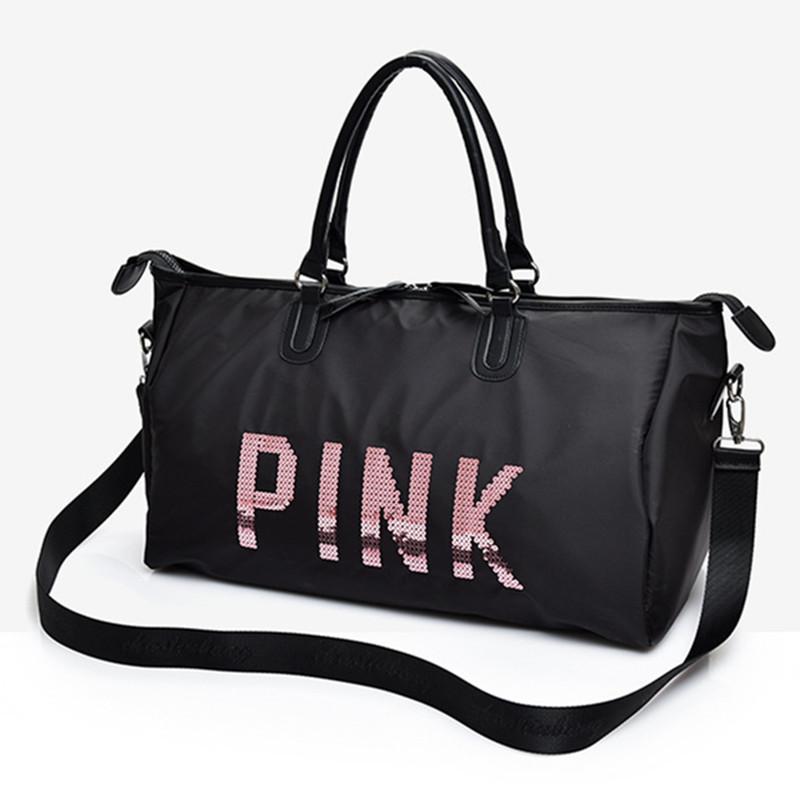 d77aa4136fb6 Women Travel Bag Large Capacity Waterproof Oversized Crossbody Shoulder Bag  Ladies PINK Big Size Premium Traveling Bag Nylon Oxford Cloth Luggage ...