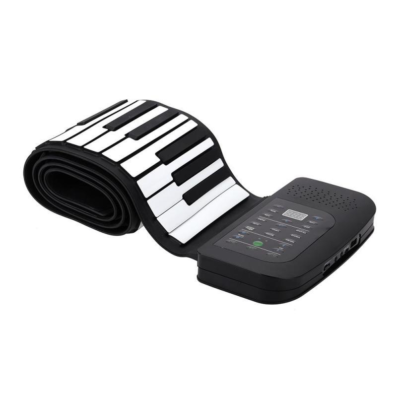 Portable 88 Keys Silicone Hand-rolling Piano with Pedal EU plug Malaysia