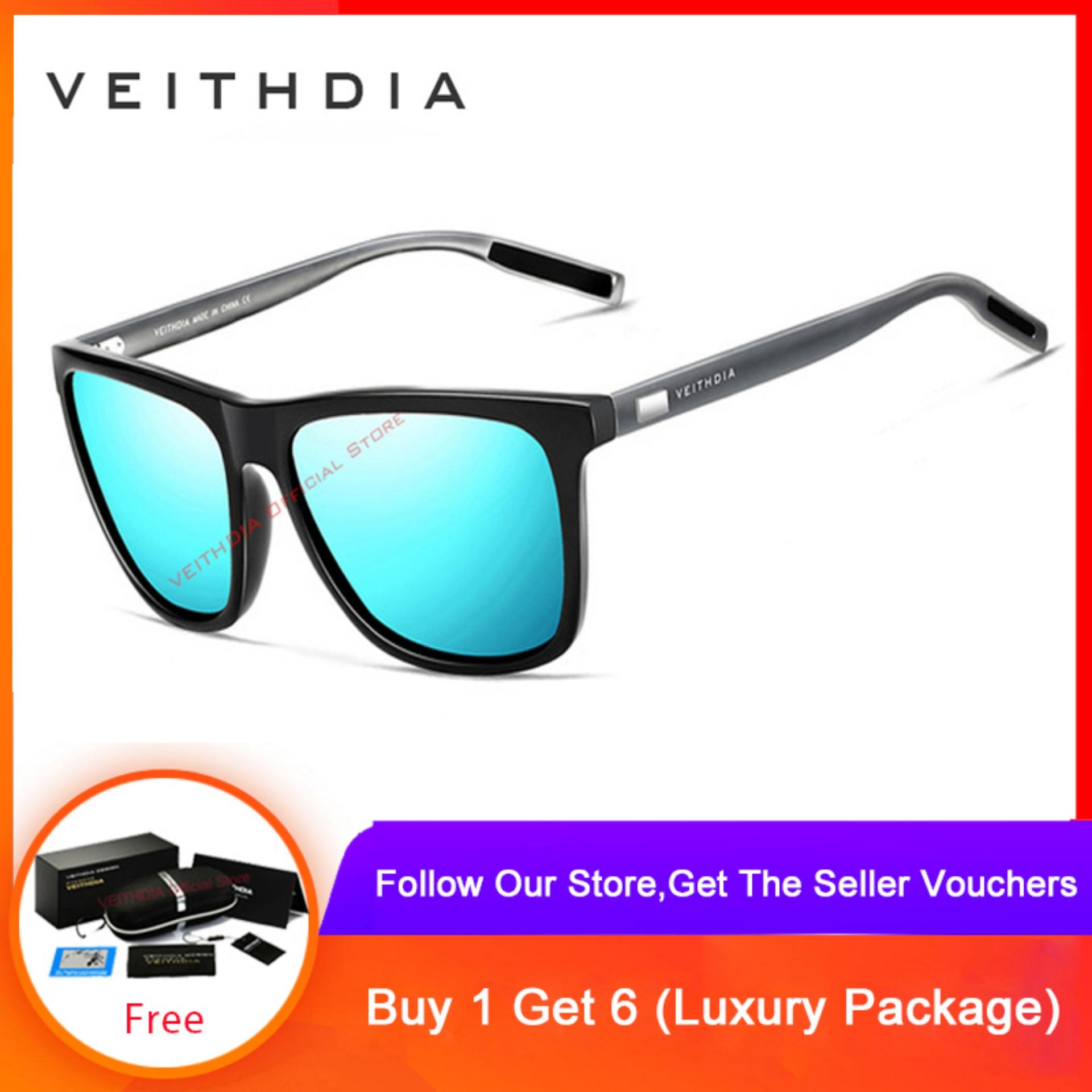 abdf22c57 VEITHDIA Unisex Aluminum+TR90 Sunglasses Polarized Lens Vintage Eyewear  Accessories Sun Glasses For Men/