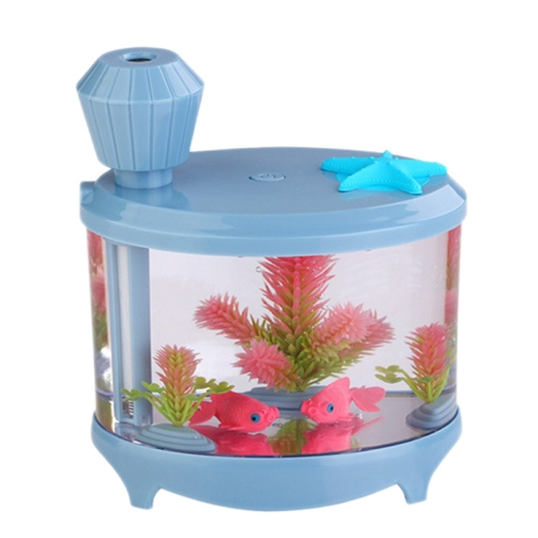 Fish Tank Air Humidifier 460Ml Aroma Oil Diffuser Night Light Mist Maker for Home Office Singapore