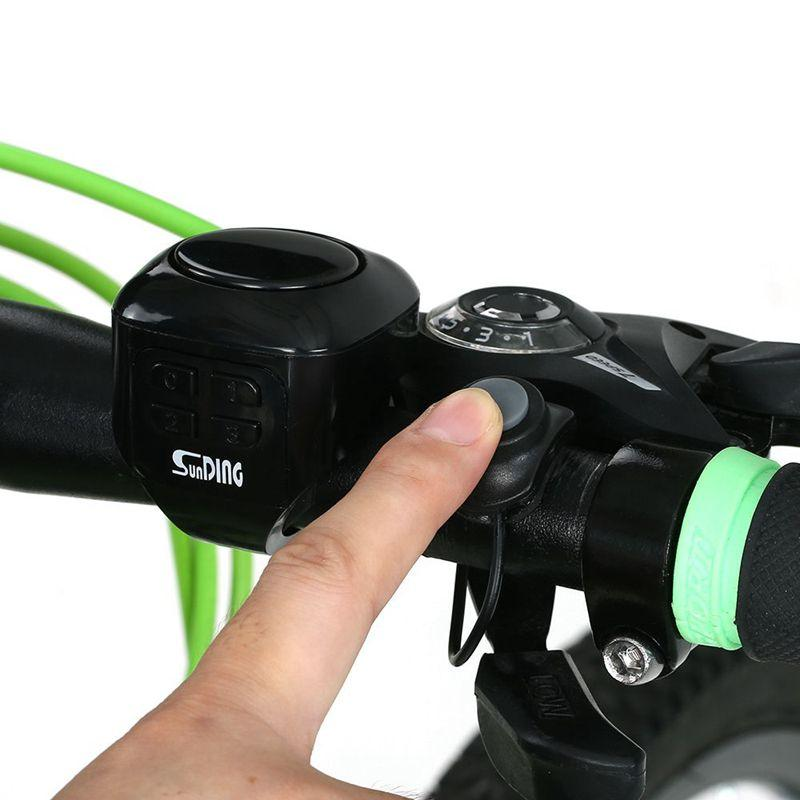 Bicycle Bike Bell Electric With Remote Alert And Horn Waterproof Loud Sound Ring