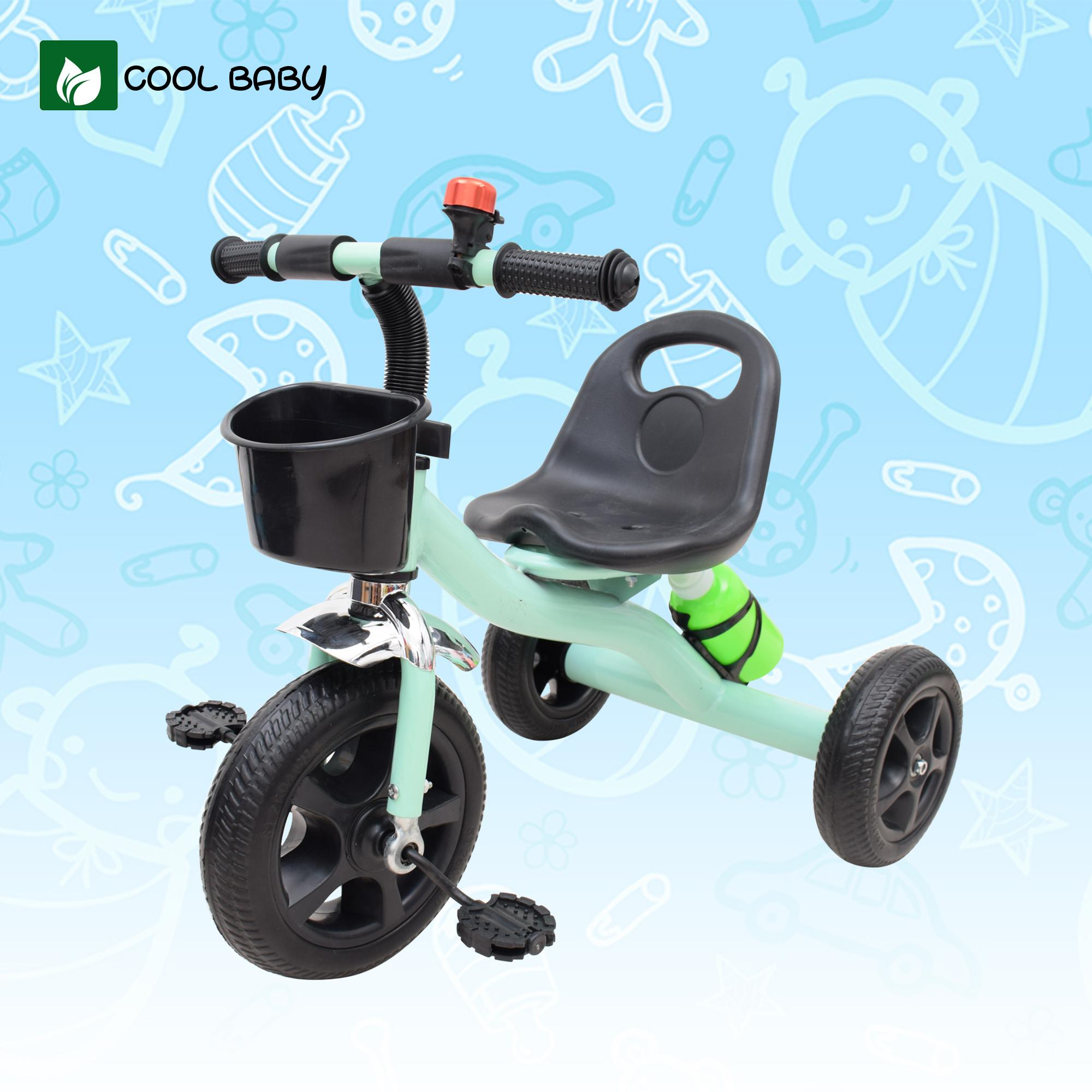 97fffd89e5c Cool Baby 638 Small Bike Kids Tricycle Bike with Front Basket and Water  Bottle