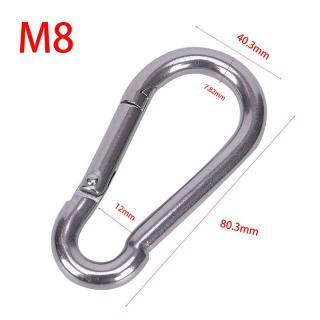 Gia Đình 1 Cái 304 Thép Không Gỉ Lò Xo Carabiner Snap Hook Keychain Liên Kết Nhanh Khóa Khóa 1
