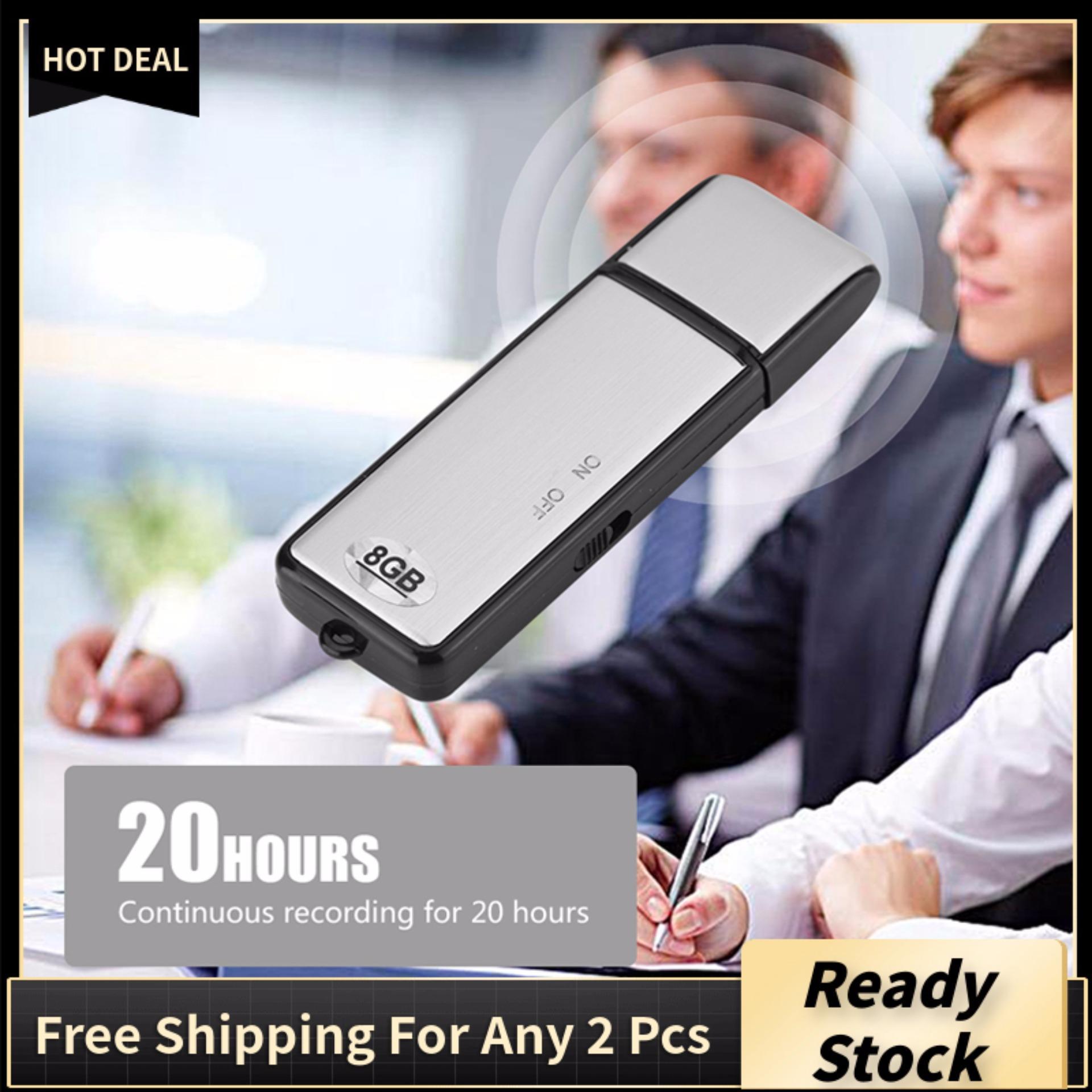 Digital Voice Recorder Noise Reduction Audio Recording Pen U Disk 8G