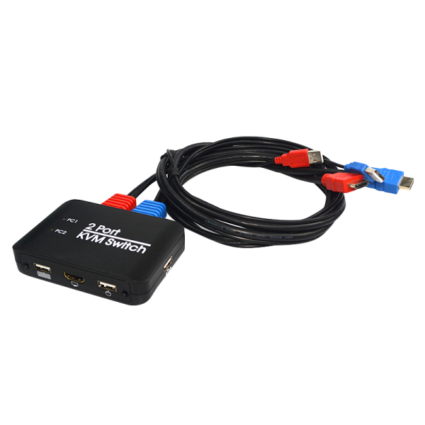 Bảng giá 2 Port USB HDMI KVM Switch with Cables AY86 Switcher for Monitor Keyboard Mouse Notebook TV Projector USB Device Phong Vũ