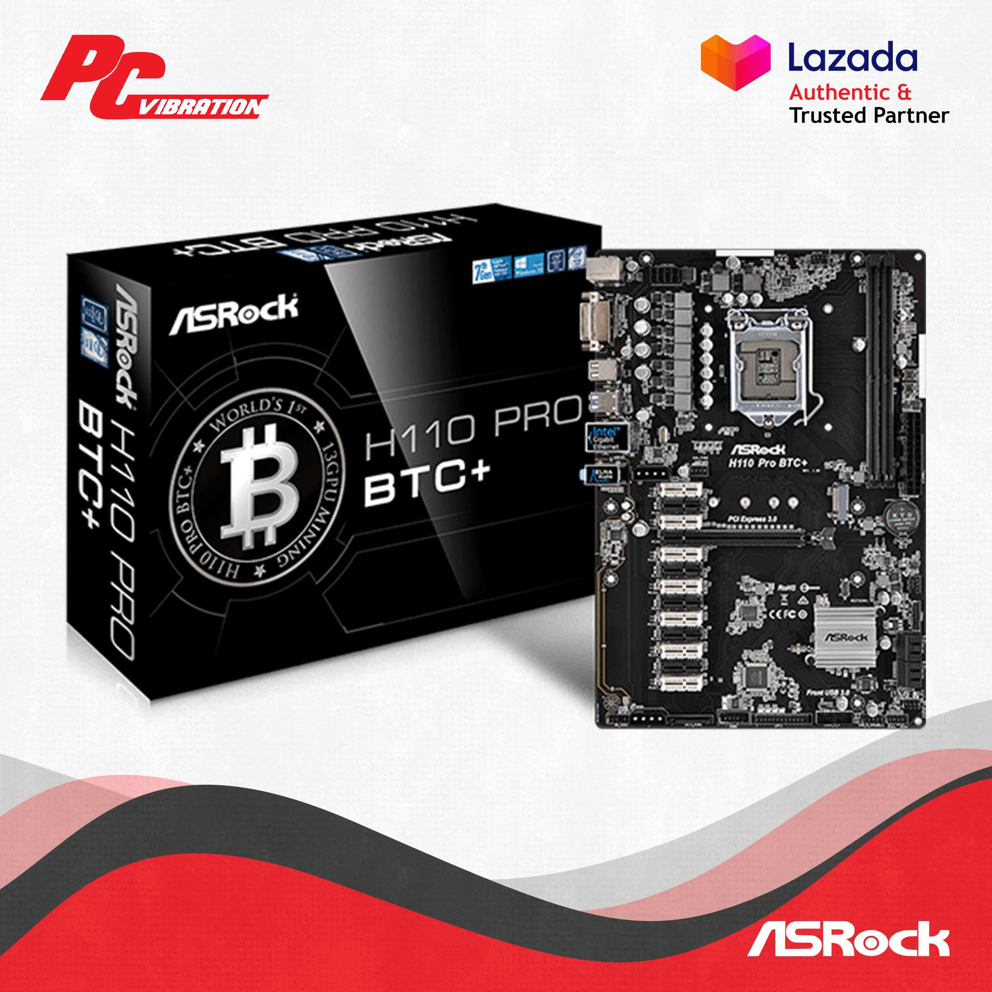 ASRock H110 Pro BTC+ 13 PCIe Crypto Mining ATX Motherboard [BTC PRO]