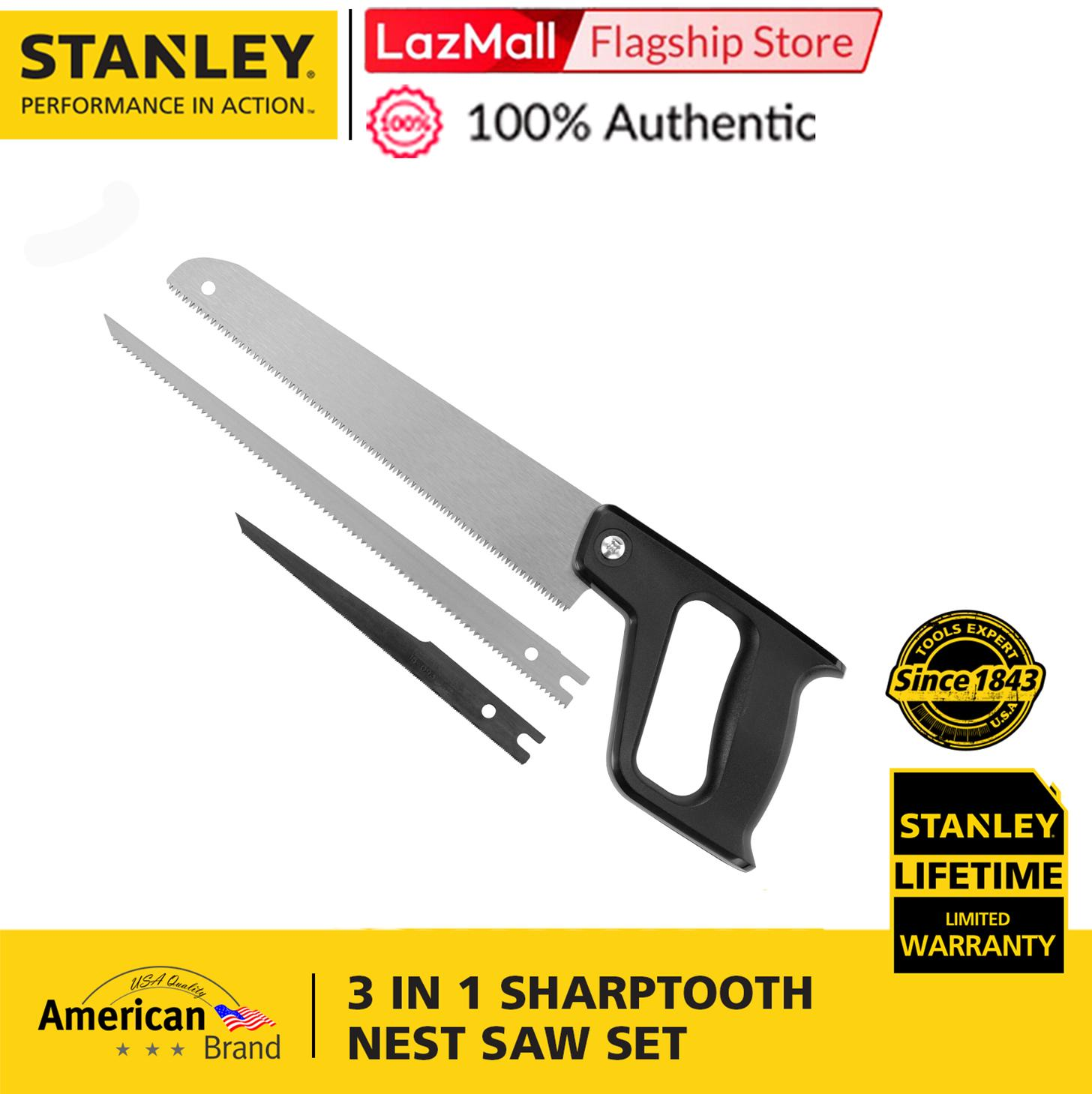 Stanley 15-090 Saw Set 3 in 1 Sharptooth Nest (Black/Steel)