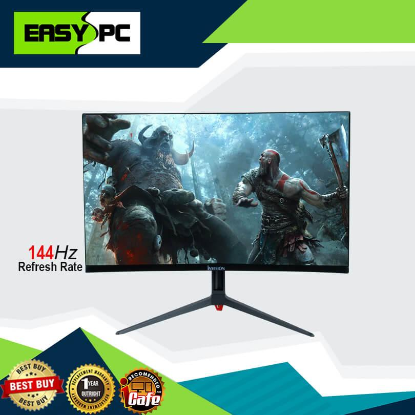Nvision GT24R18 23 8 inches 144Hz Gaming Curve Monitor, Nvision 144hz  Monitor for Ultra Settings Gaming AAA Games and Clear Color Resolution,  with