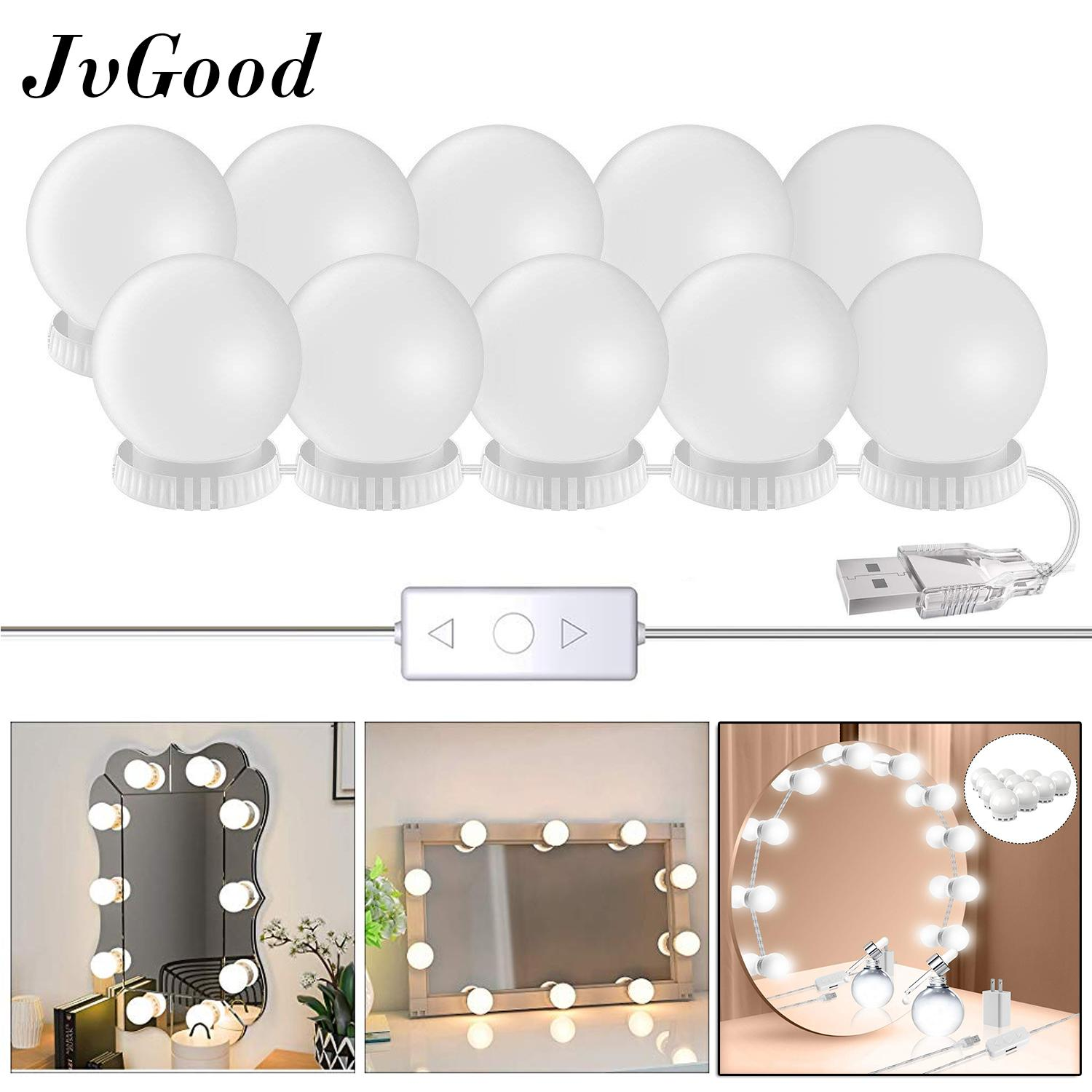JvGood LED Mirror Lights Make Up Vanity Mirror Light with 10 Light Bulbs for Makeup Dressing Table Lighting Strip Hollywood Style Philippines