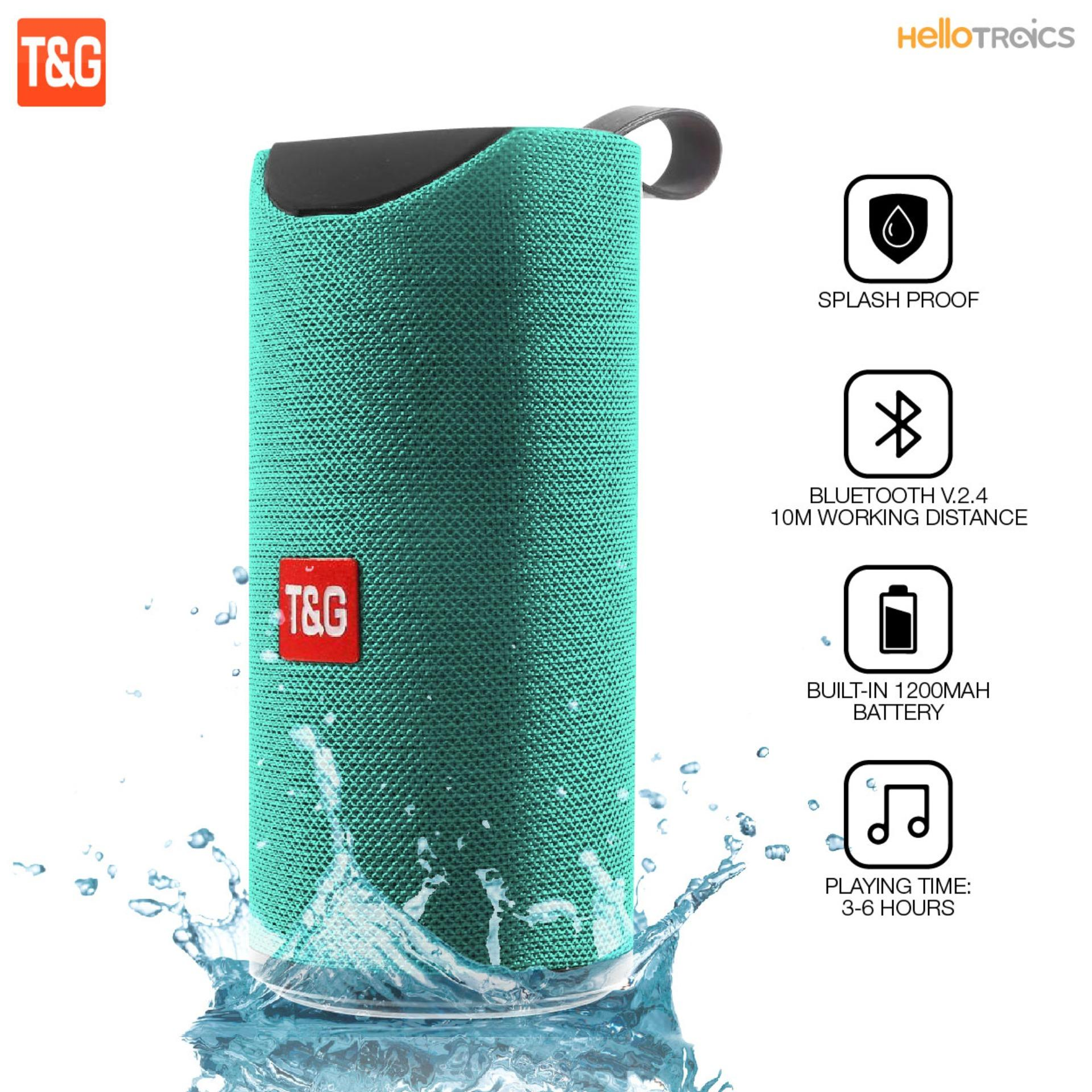 T&g Tg113 Super Bass Splash-Proof Bluetooth Speaker By Hellotronics.