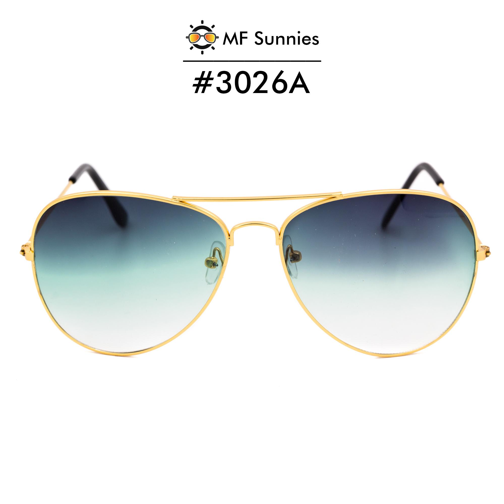 2e4c49b51892f5 MFSunnies Sunnies Classic Aviator Gradient lens Metal Frame Fashion eyewear  Gradient Green  3026A