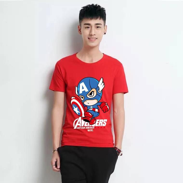 2b7ca562 Men Adults T-Shirts Fashionable Avengers Printed Designs T-Shirts Cotton Tops  Clothes for
